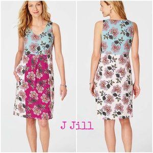 🆕 J. JILL FLORAL COLOR BLOCK DRESS